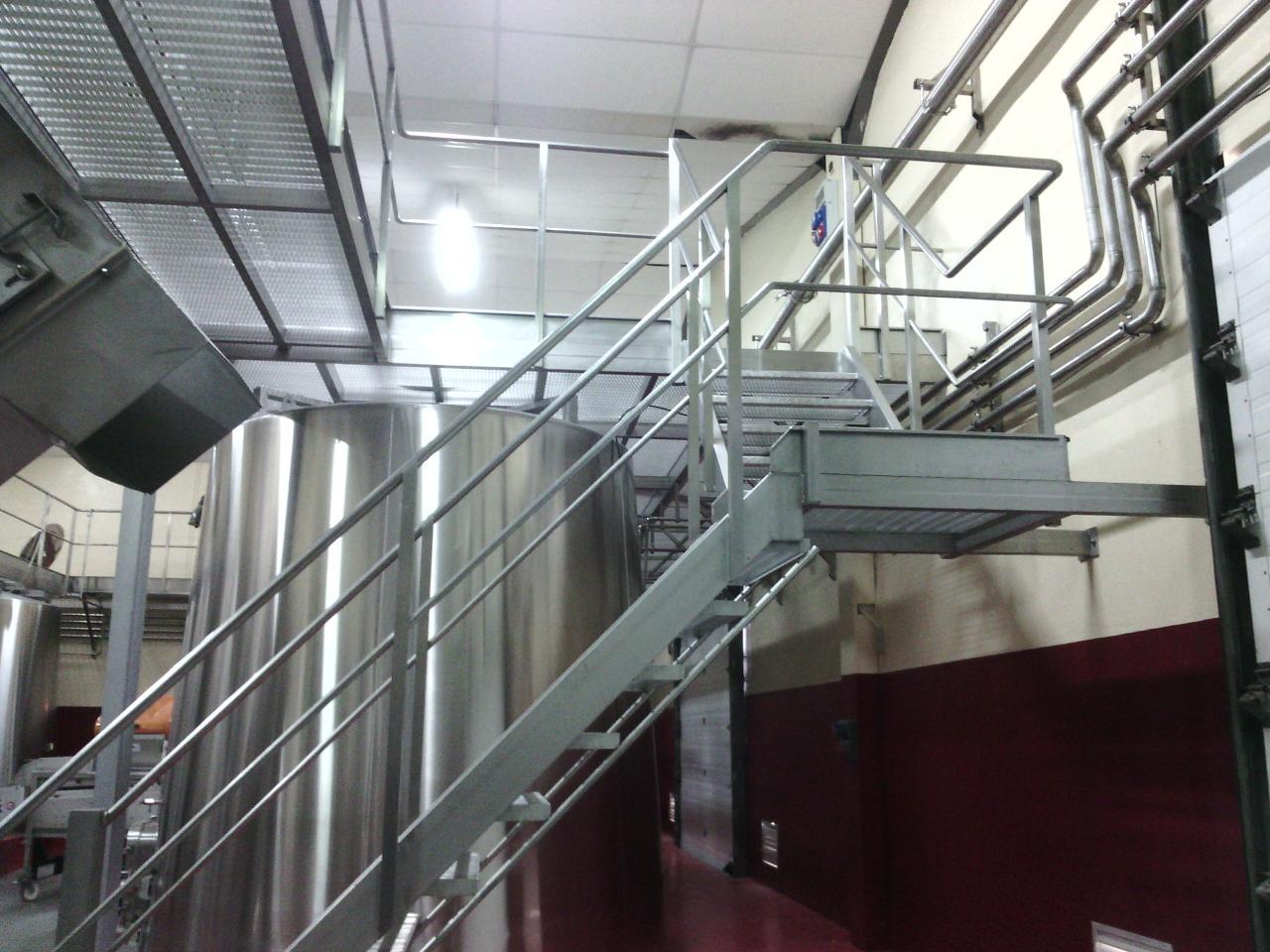 escalier inox