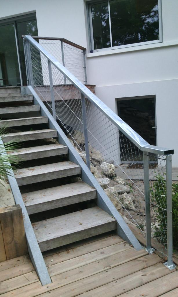escalier gava + grillage