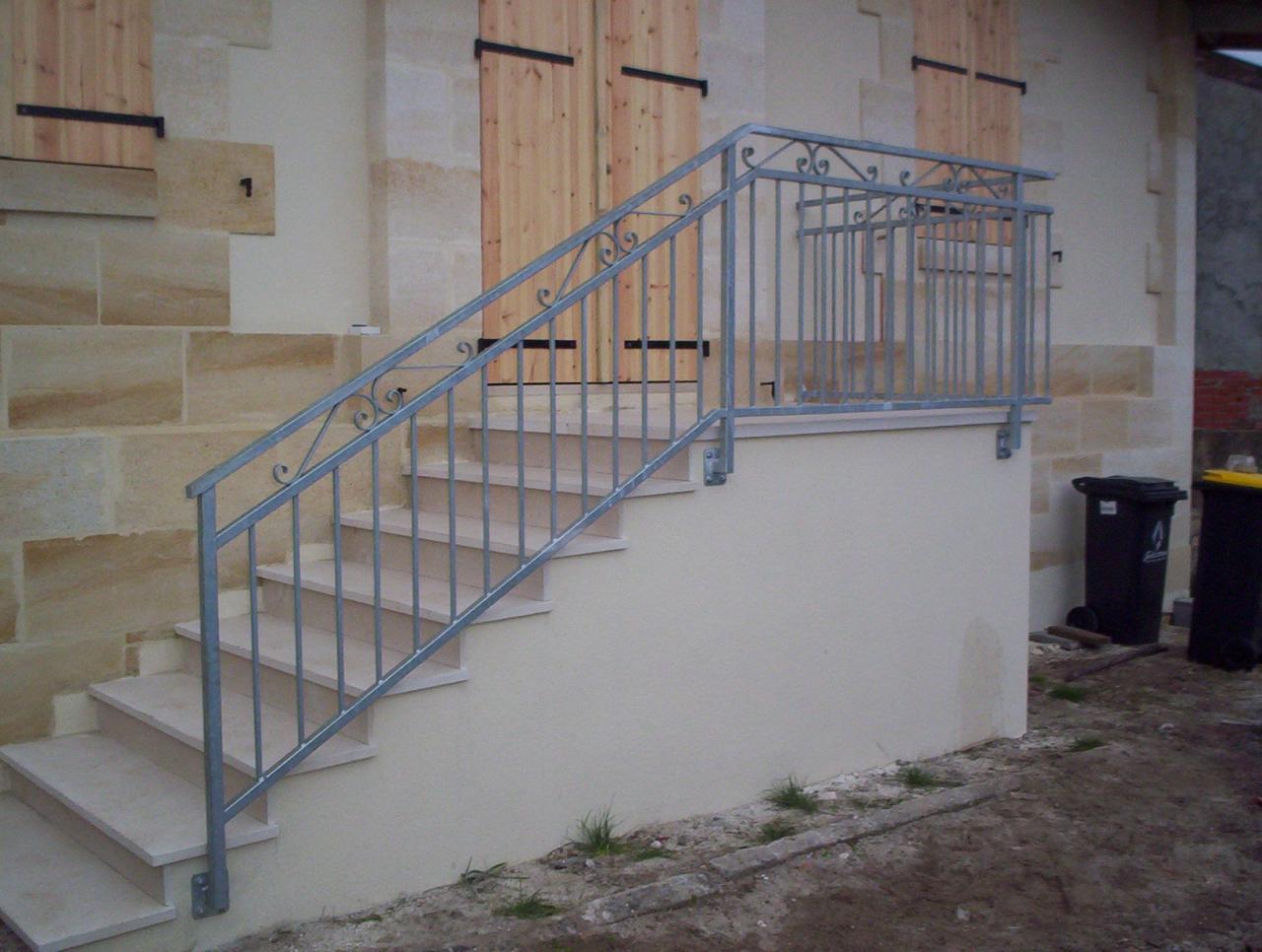 rampe escalier galvanisé
