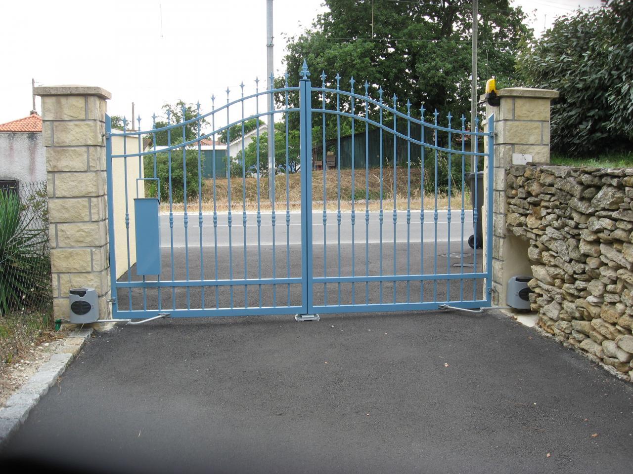 portail thermolaqué